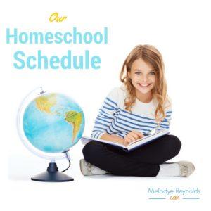 our homeschool schedule melodye reynolds