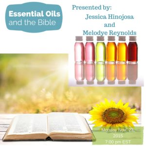 Learn the biblical basis for essential oils.
