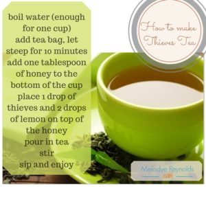 How to make Thieves Tea- MelodyeReynolds.com